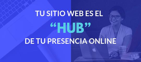 """Tu sitio web es el """"Hub"""" de tu presencia online"""