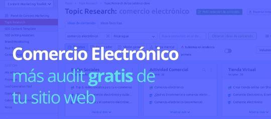 Comercio electrónico en el evento ecommerceConf20 de SEMrush